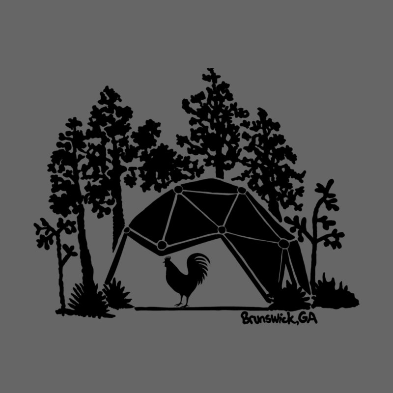 Hostel in the Forest Dome Rooster grey background Women's V-Neck by Hostel in the Forest