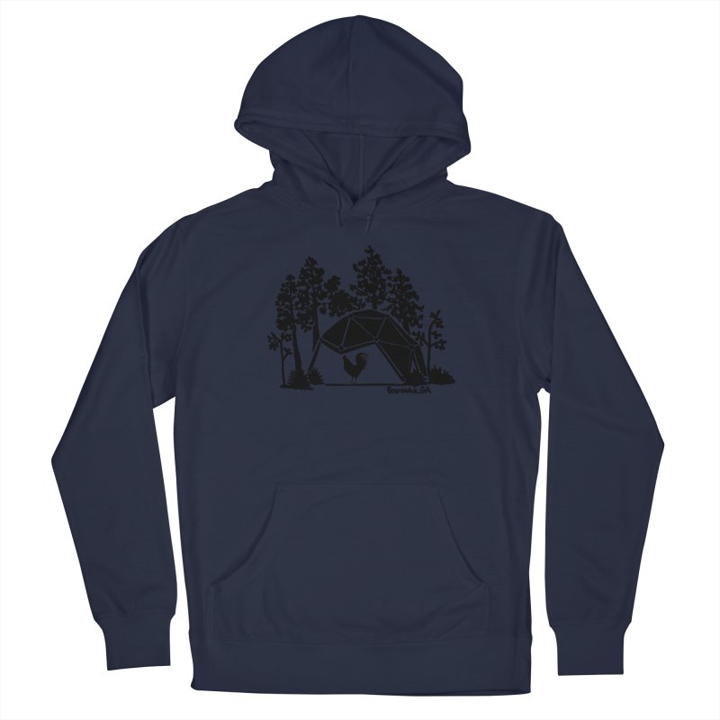 Hostel in the Forest Dome Rooster grey background Men's Pullover Hoody by Hostel in the Forest