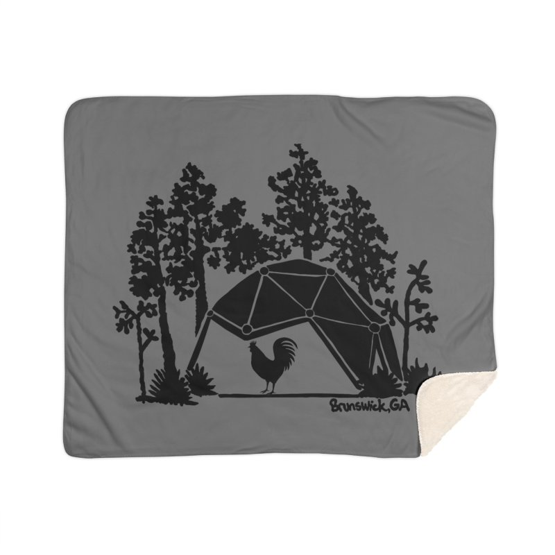 Hostel in the Forest Dome Rooster, on a grey background Home Blanket by Hostel in the Forest
