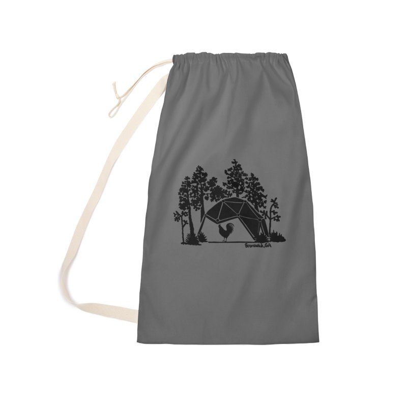 Hostel in the Forest Dome Rooster grey background Accessories Bag by Hostel in the Forest
