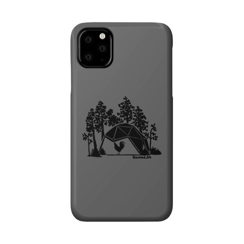 Hostel in the Forest Dome Rooster grey background Accessories Phone Case by Hostel in the Forest