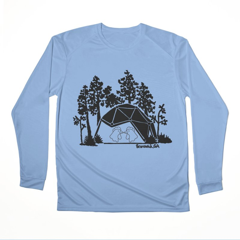 Hostel in the Forest Dome Chickens grey background Men's Longsleeve T-Shirt by Hostel in the Forest