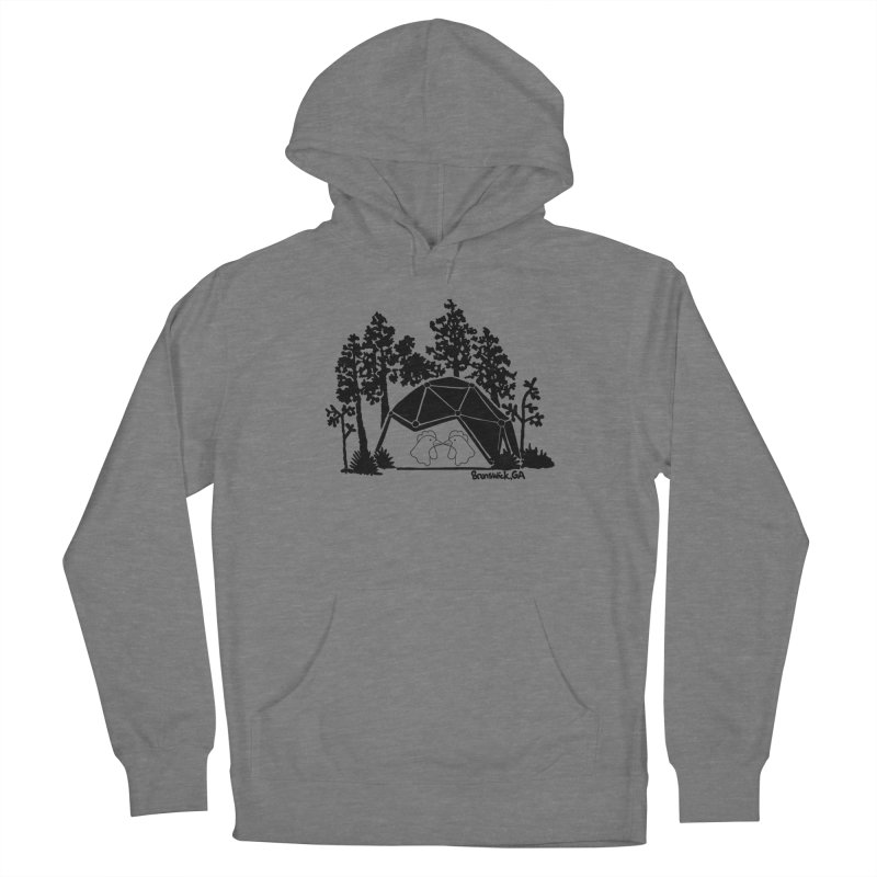 Hostel in the Forest Dome Chickens, on a grey background Women's Pullover Hoody by Hostel in the Forest