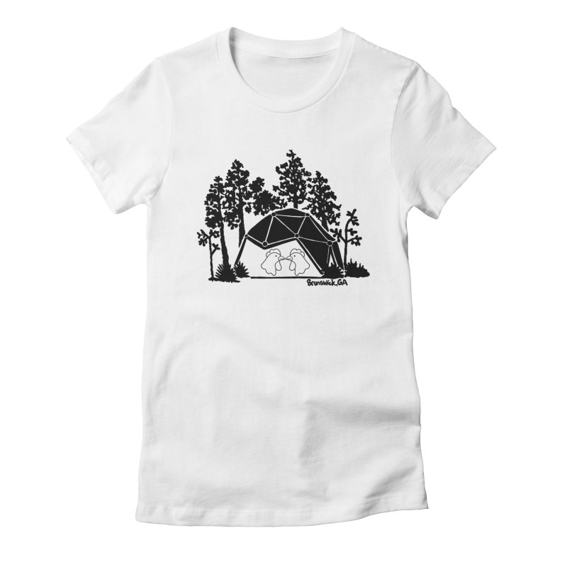 Hostel in the Forest Dome Chickens, on a grey background Women's T-Shirt by Hostel in the Forest
