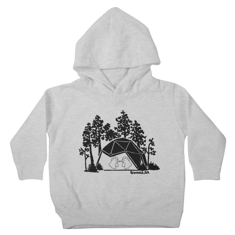 Hostel in the Forest Dome Chickens, on a grey background Kids Toddler Pullover Hoody by Hostel in the Forest
