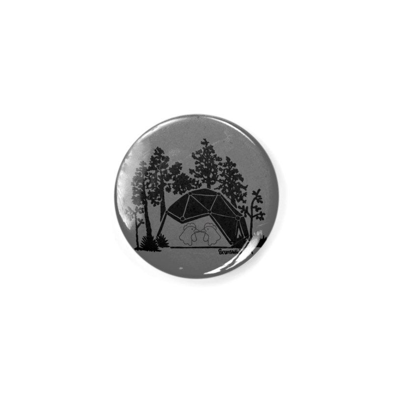 Hostel in the Forest Dome Chickens, on a grey background Accessories Button by Hostel in the Forest