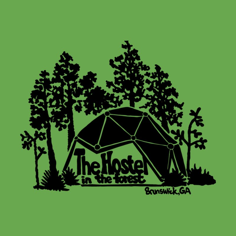Hostel in the Forest Dome Logo green background Women's T-Shirt by Hostel in the Forest