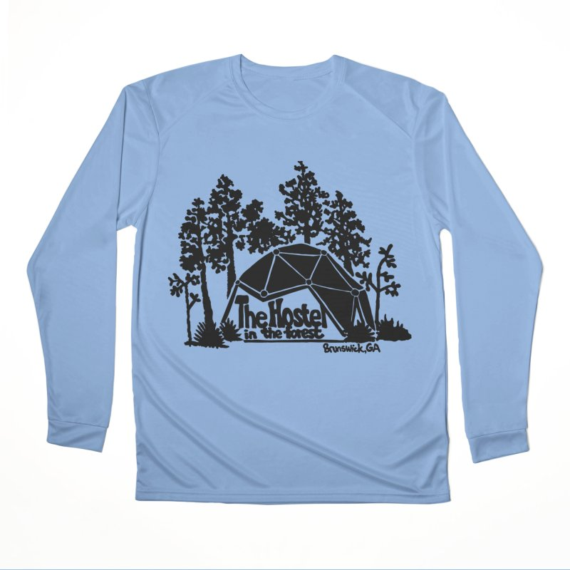 Hostel in the Forest Dome Logo green background Men's Longsleeve T-Shirt by Hostel in the Forest