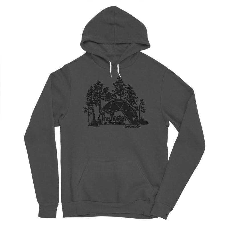 Hostel in the Forest Dome Logo, on a green background Women's Pullover Hoody by Hostel in the Forest