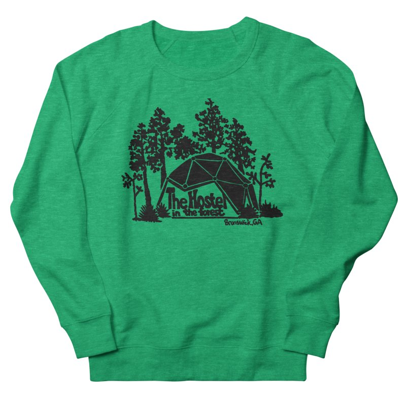 Hostel in the Forest Dome Logo, on a green background Women's Sweatshirt by Hostel in the Forest