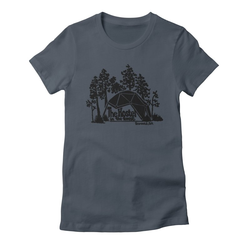 Hostel in the Forest Dome Logo, on a green background Women's T-Shirt by Hostel in the Forest