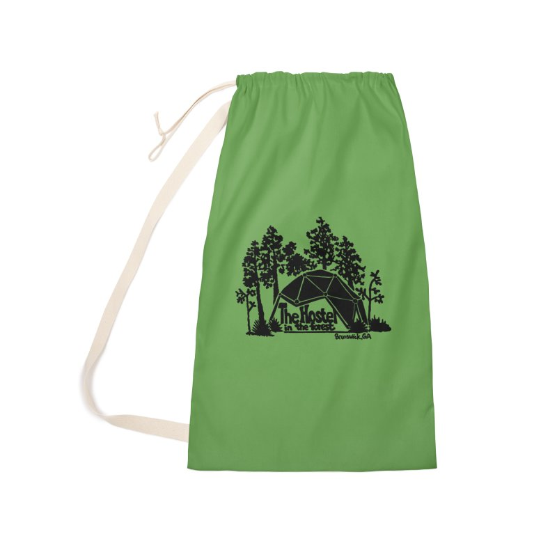 Hostel in the Forest Dome Logo green background Accessories Bag by Hostel in the Forest