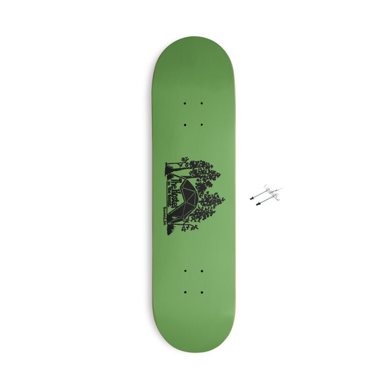 Hostel in the Forest Dome Logo green background Accessories Skateboard by Hostel in the Forest