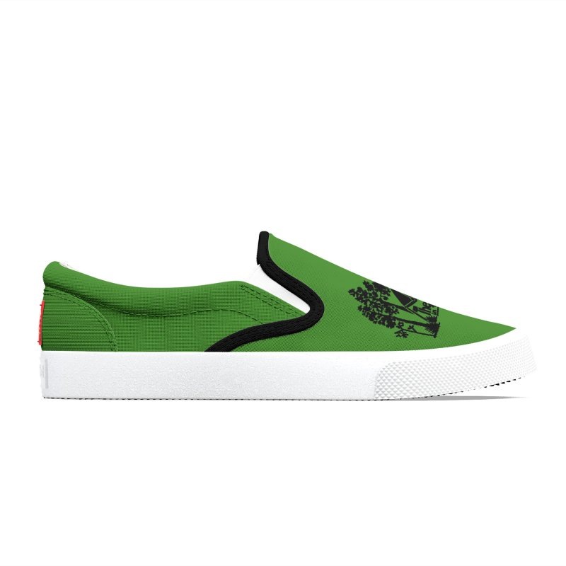 Hostel in the Forest Dome Logo, on a green background Women's Shoes by Hostel in the Forest