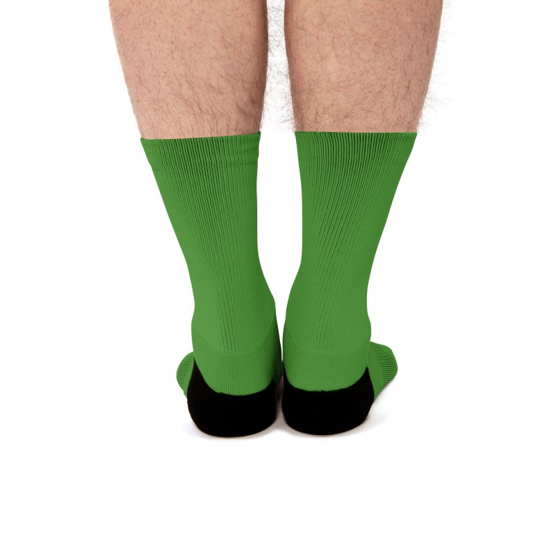 Hostel in the Forest Dome Logo, on a green background Men's Socks by Hostel in the Forest