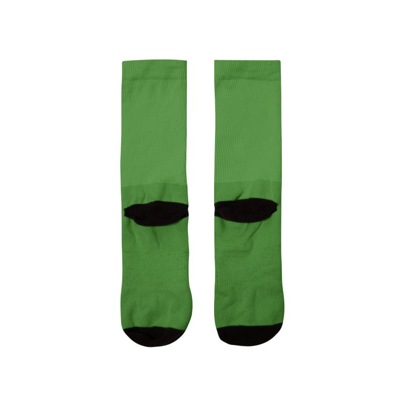 Hostel in the Forest Dome Logo, on a green background Women's Socks by Hostel in the Forest