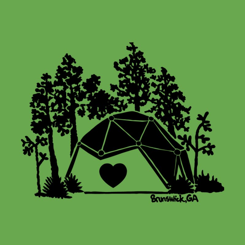 Forest in the Hostel Dome Heart green background Men's T-Shirt by Hostel in the Forest