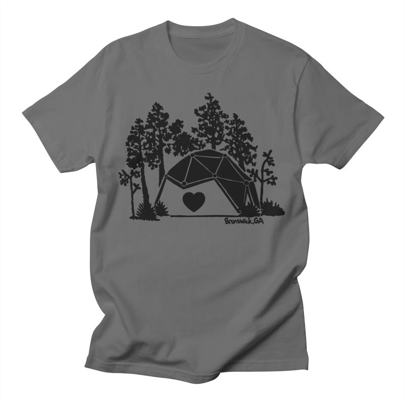 Forest in the Hostel Dome Heart, on a green background Men's T-Shirt by Hostel in the Forest