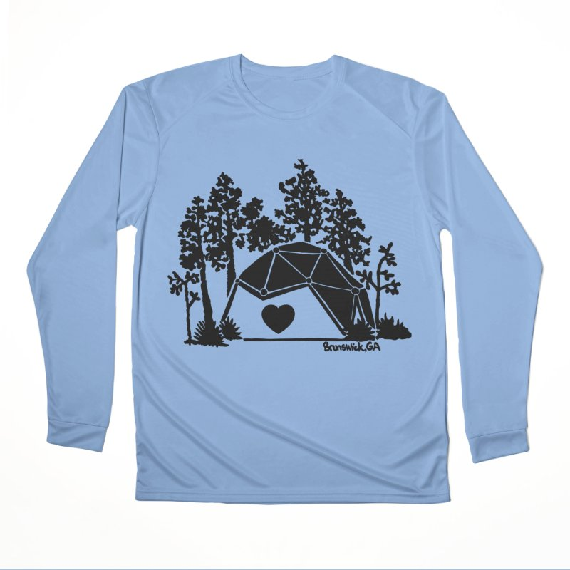 Forest in the Hostel Dome Heart green background Men's Longsleeve T-Shirt by Hostel in the Forest