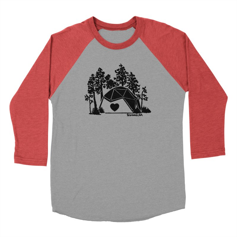 Forest in the Hostel Dome Heart, on a green background Women's Longsleeve T-Shirt by Hostel in the Forest