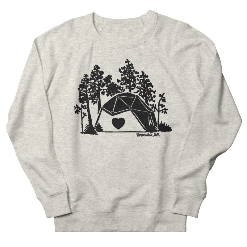 Forest in the Hostel Dome Heart, on a green background Women's Sweatshirt by Hostel in the Forest