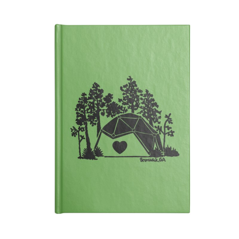 Forest in the Hostel Dome Heart green background Accessories Notebook by Hostel in the Forest