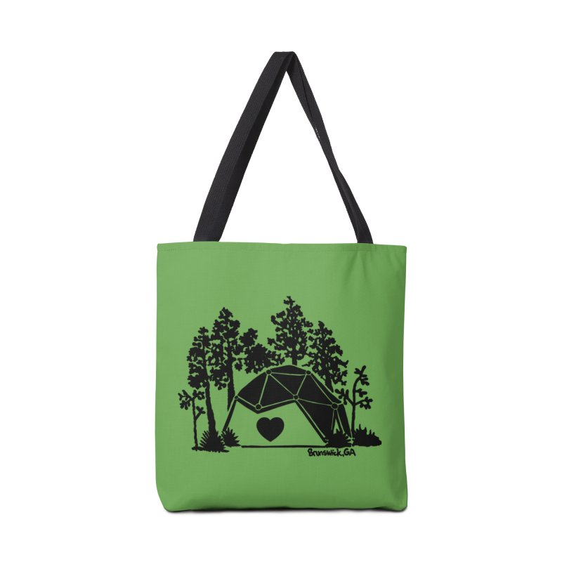 Forest in the Hostel Dome Heart green background Accessories Bag by Hostel in the Forest