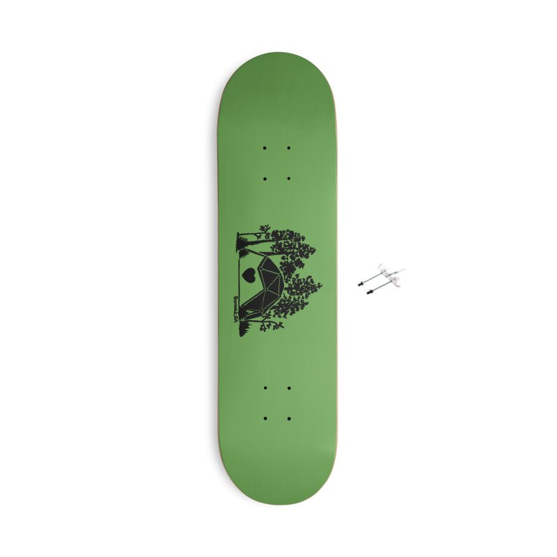 Forest in the Hostel Dome Heart green background Accessories Skateboard by Hostel in the Forest
