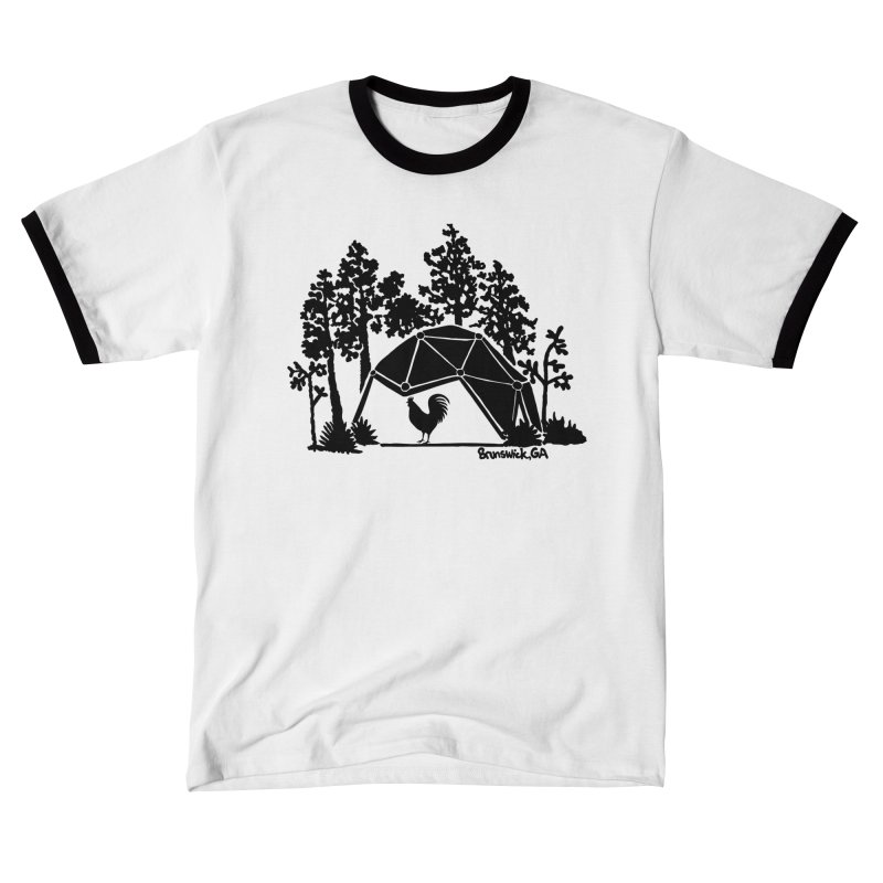 Hostel in the Forest Dome Rooster green background Women's T-Shirt by Hostel in the Forest
