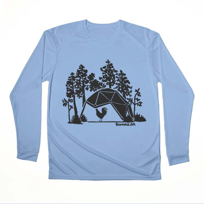 Hostel in the Forest Dome Rooster green background Men's Longsleeve T-Shirt by Hostel in the Forest