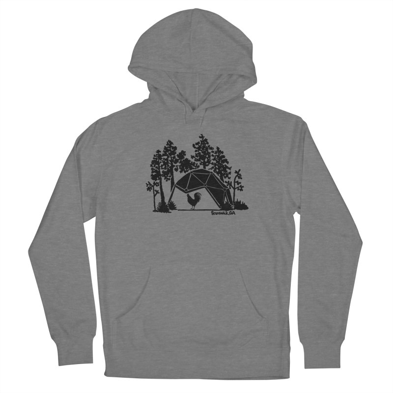 Hostel in the Forest Dome Rooster green background Women's Pullover Hoody by Hostel in the Forest