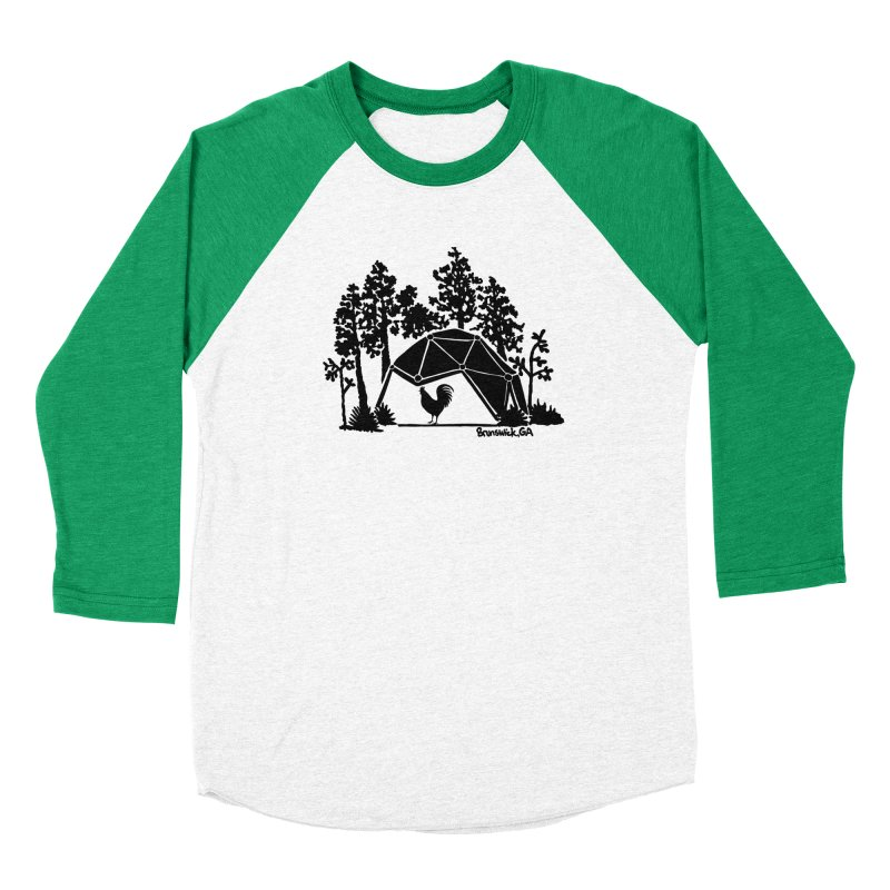 Hostel in the Forest Dome Rooster, on a green background Women's Longsleeve T-Shirt by Hostel in the Forest