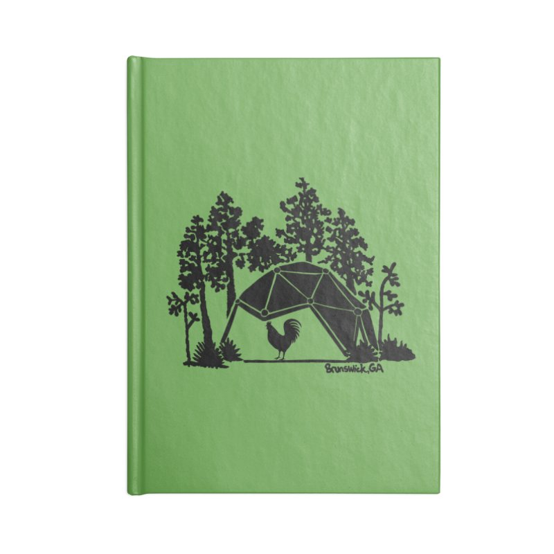 Hostel in the Forest Dome Rooster green background Accessories Notebook by Hostel in the Forest