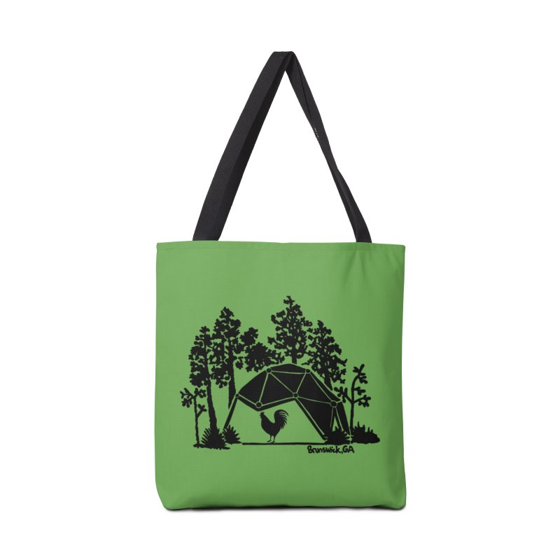 Hostel in the Forest Dome Rooster, on a green background Accessories Bag by Hostel in the Forest