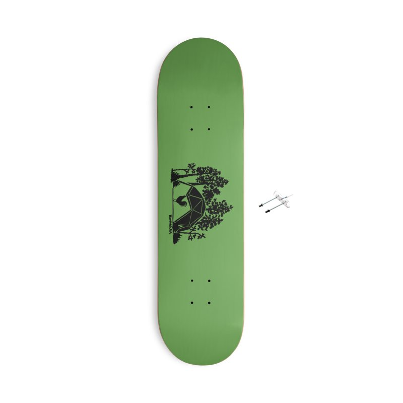 Hostel in the Forest Dome Rooster green background Accessories Skateboard by Hostel in the Forest