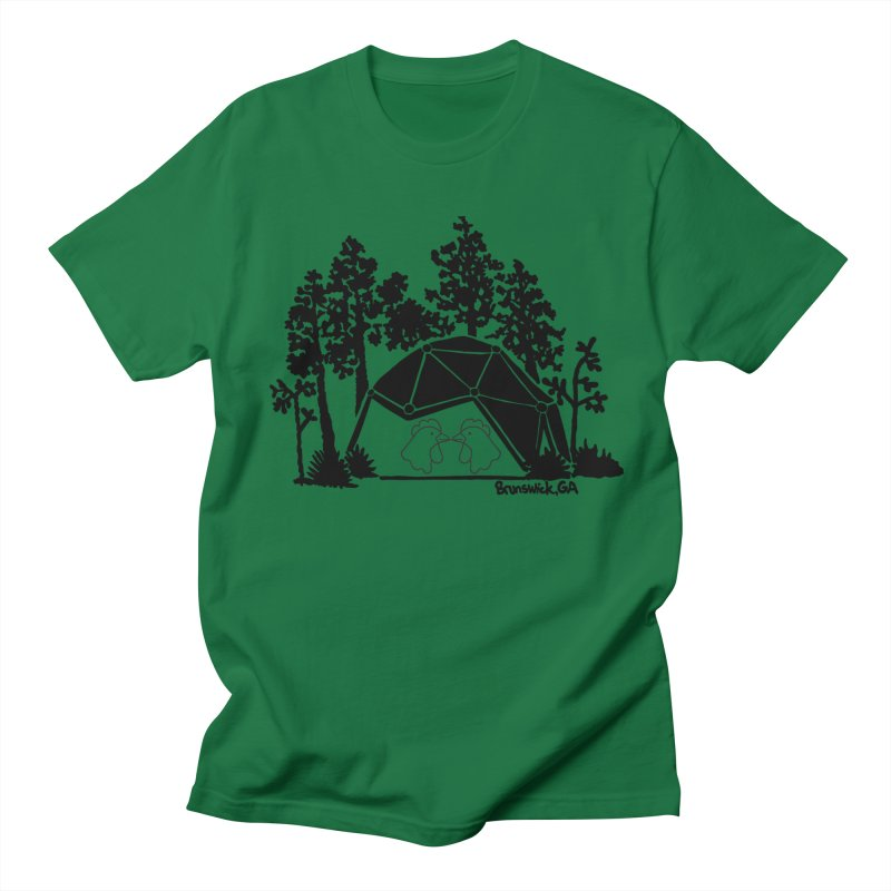 Hostel in the Forest Dome Chickens, on a green background Men's T-Shirt by Hostel in the Forest