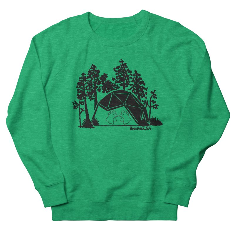 Hostel in the Forest Dome Chickens, on a green background Women's Sweatshirt by Hostel in the Forest