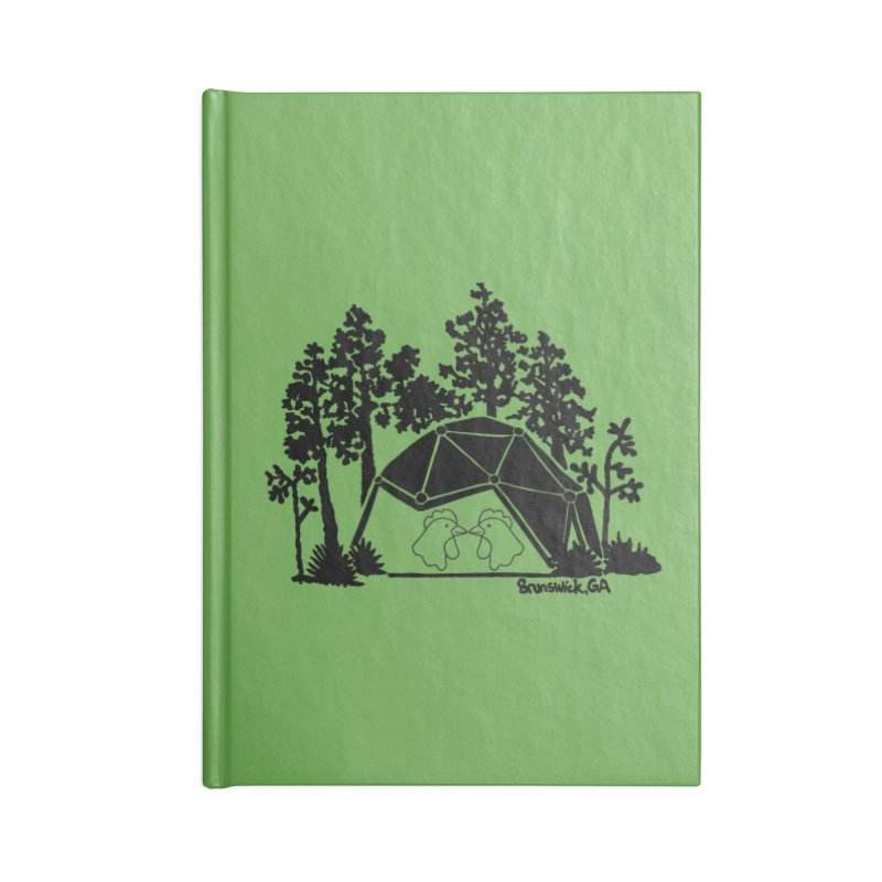 Hostel in the Forest Dome Chickens green background Accessories Notebook by Hostel in the Forest