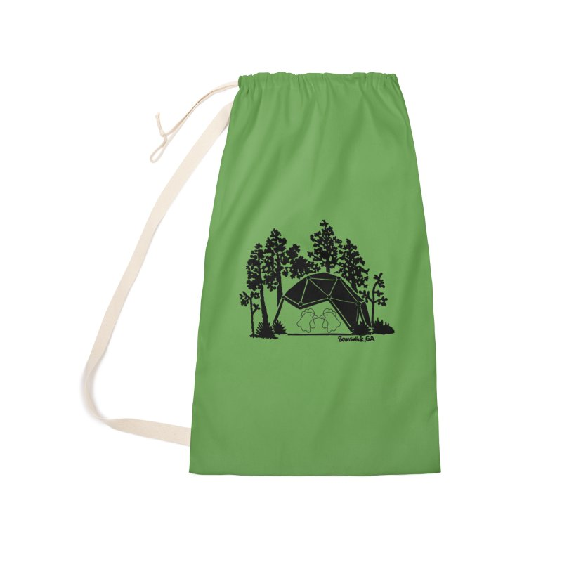 Hostel in the Forest Dome Chickens green background Accessories Bag by Hostel in the Forest