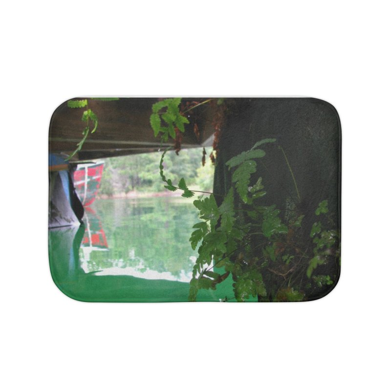The Lake Dock Home Bath Mat by Hostel in the Forest