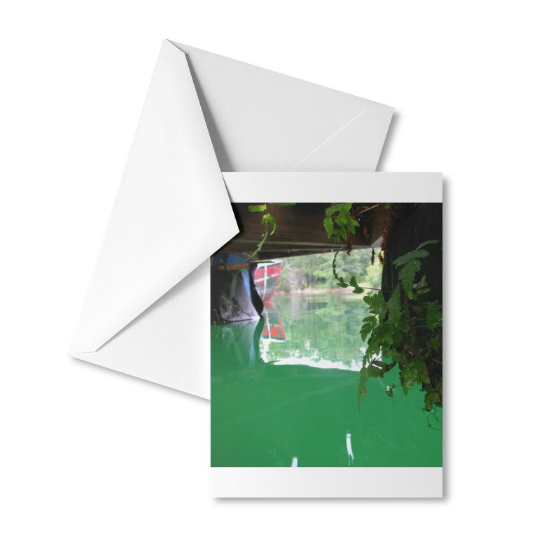 The Lake Dock Accessories Greeting Card by Hostel in the Forest