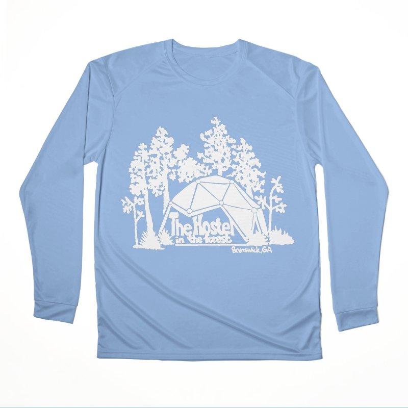 Hostel in the Forest Domes Logo white Men's Longsleeve T-Shirt by Hostel in the Forest