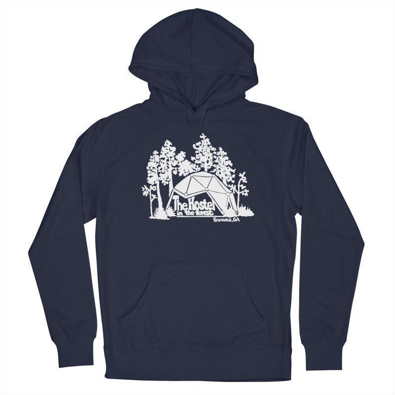 Hostel in the Forest Domes Logo white Men's Pullover Hoody by Hostel in the Forest