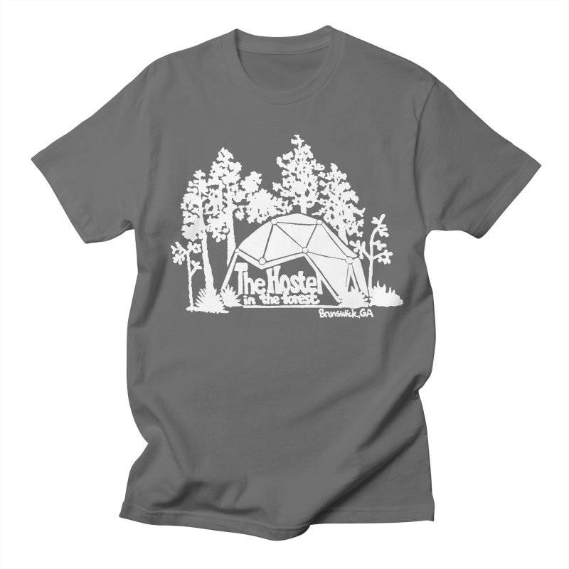Hostel in the Forest Domes Logo white Men's T-Shirt by Hostel in the Forest