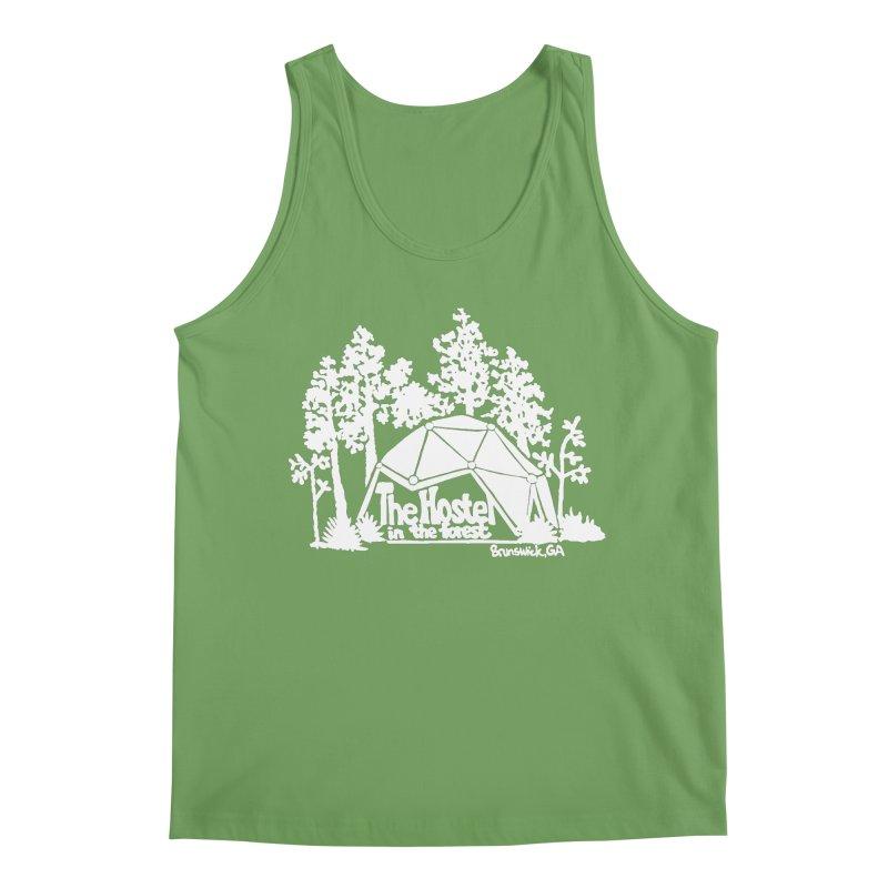 Hostel in the Forest Domes Logo white Men's Tank by Hostel in the Forest
