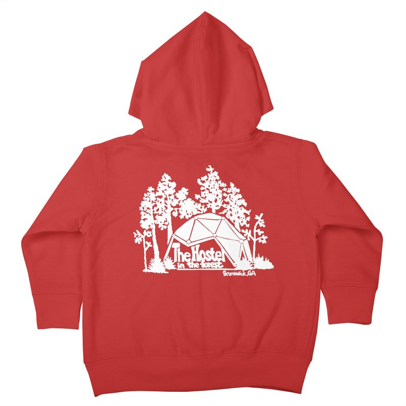 Hostel in the Forest Domes Logo white Kids Toddler Zip-Up Hoody by Hostel in the Forest