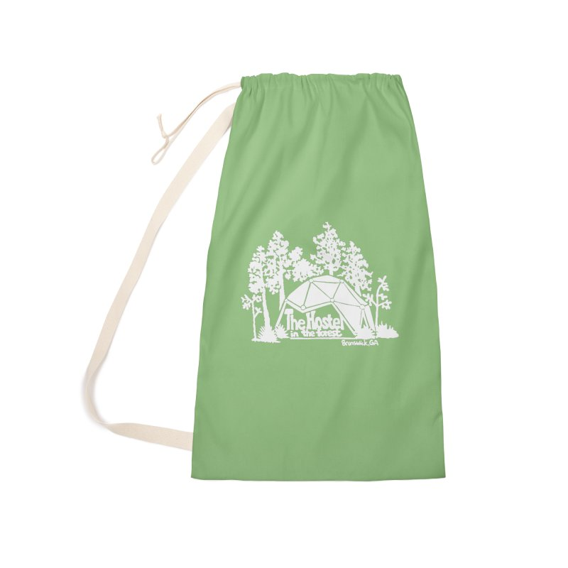 Hostel in the Forest Domes Logo white Accessories Bag by Hostel in the Forest