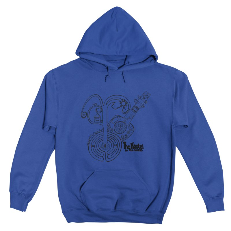 Hostel Peace by Darlene Cook Men's Pullover Hoody by Hostel in the Forest