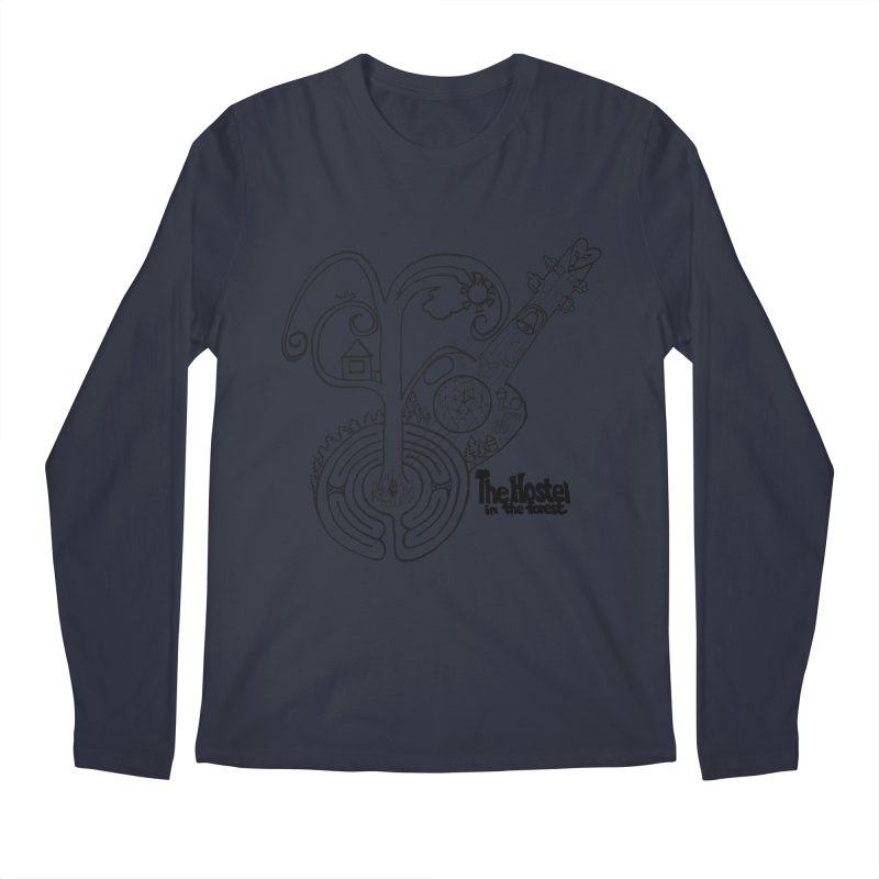 Hostel Peace by Darlene Cook Men's Longsleeve T-Shirt by Hostel in the Forest