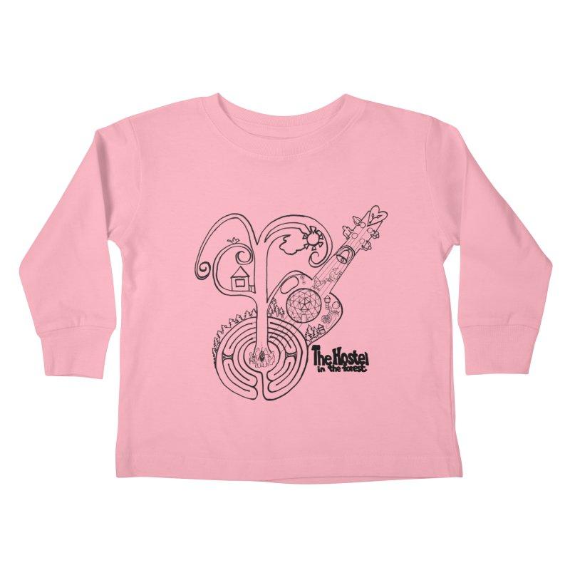 Hostel Peace by Darlene Cook Kids Toddler Longsleeve T-Shirt by Hostel in the Forest